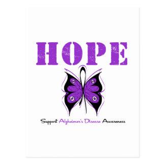 Hope Butterfly Purple Ribbon Alzheimer's Disease Postcard