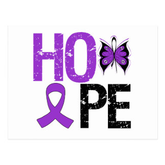 HOPE Butterfly Ribbon Alzheimer's Disease Postcard