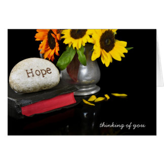 hope carved in stone on Bible Greeting Card