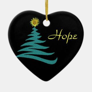 Hope Christmas Tree Ornament - Heart