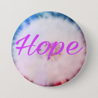 Hope. Colourful dandelion wish 7.5 Cm Round Badge