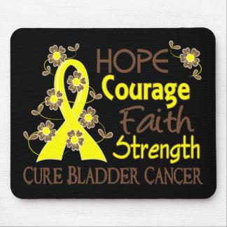 Hope Courage Faith Strength 3 Bladder Cancer Mousepads