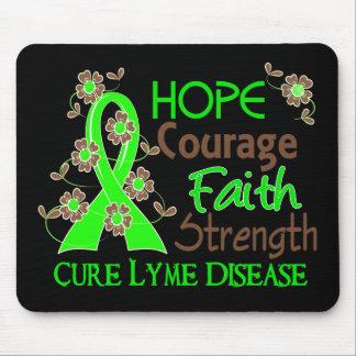 Hope Courage Faith Strength 3 Lyme Disease Mouse Mat