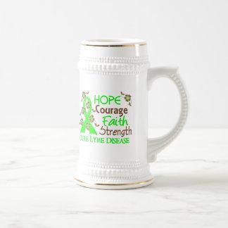 Hope Courage Faith Strength 3 Lyme Disease Coffee Mugs