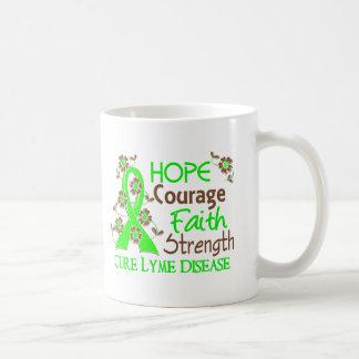 Hope Courage Faith Strength 3 Lyme Disease Mug