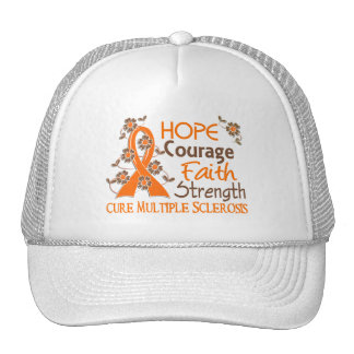 Hope Courage Faith Strength 3 Multiple Sclerosis Cap