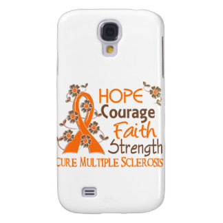 Hope Courage Faith Strength 3 Multiple Sclerosis Samsung Galaxy S4 Case
