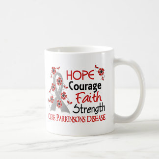 Hope Courage Faith Strength 3 Parkinson's Disease Coffee Mug