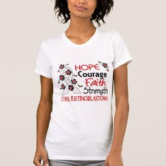 Hope Courage Faith Strength 3 Retinoblastoma T-shirt