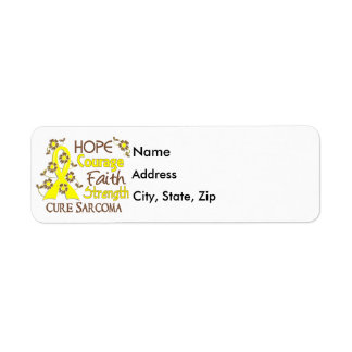 Hope Courage Faith Strength 3 Sarcoma Return Address Label