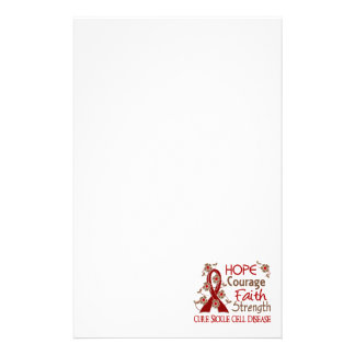 Hope Courage Faith Strength 3 Sickle Cell Disease Personalized Stationery