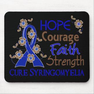 Hope Courage Faith Strength 3 Syringomyelia Mouse Pad
