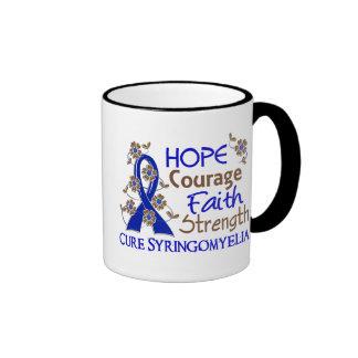 Hope Courage Faith Strength 3 Syringomyelia Ringer Mug