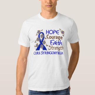 Hope Courage Faith Strength 3 Syringomyelia T-shirts