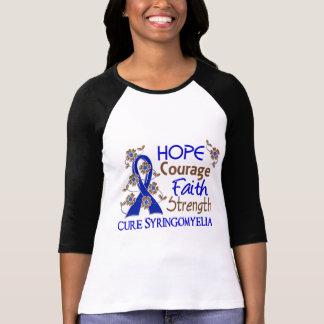 Hope Courage Faith Strength 3 Syringomyelia Tee Shirts