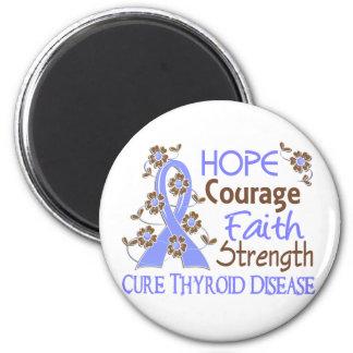 Hope Courage Faith Strength 3 Thyroid Disease Magnets
