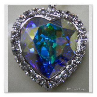 HOPE DIAMOND HEART POSTERS