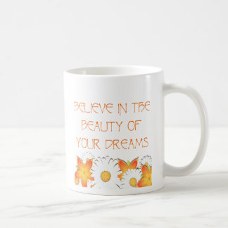 Hope, Dreams and Beauty Basic White Mug