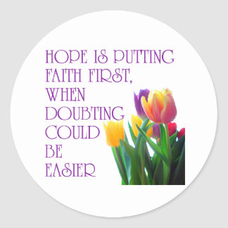 Hope, Dreams and Beauty Classic Round Sticker
