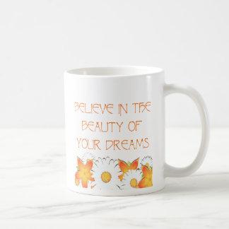Hope, Dreams and Beauty Classic White Coffee Mug