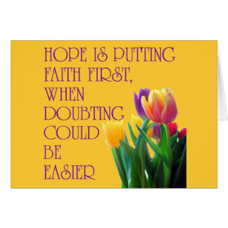 Hope, Dreams and Beauty Greeting Card