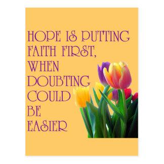 Hope, Dreams and Beauty Postcard