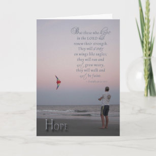 Hope - encouragement for cancer patient card