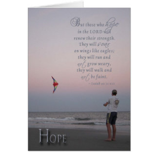 Hope - encouragement for cancer patient greeting card