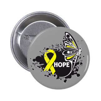 Hope Ewing Sarcoma Butterfly 6 Cm Round Badge