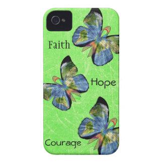 Hope Faith and Courage Lyme Disease Phone Case