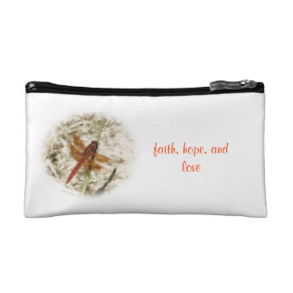 Hope, Faith, and Love butterfly Bagettes Bag Cosmetics Bags