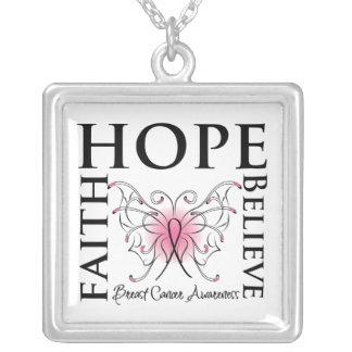 Hope Faith Believe Breast Cancer Pendants