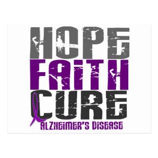 HOPE FAITH CURE ALZHEIMER'S DISEASE POSTCARD