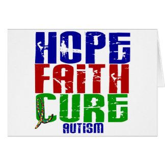 HOPE FAITH CURE AUTISM CARD