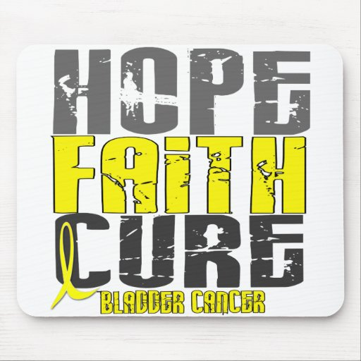 HOPE FAITH CURE BLADDER CANCER MOUSE PADS