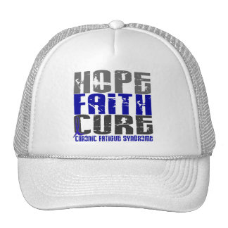 Hope Faith Cure CFS Chronic Fatigue Syndrome Trucker Hats