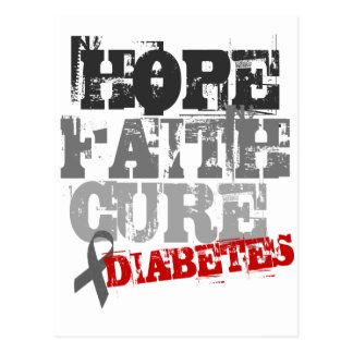 Hope. Faith. Cure. Diabetes Postcard