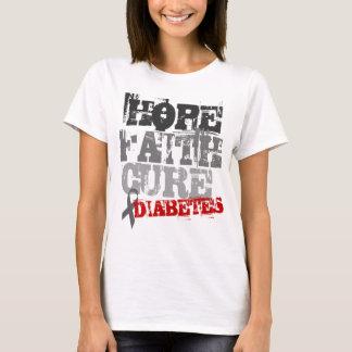 Hope. Faith. Cure. Diabetes T-Shirt
