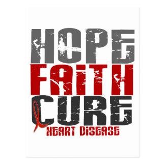 HOPE FAITH CURE HEART DISEASE POST CARD
