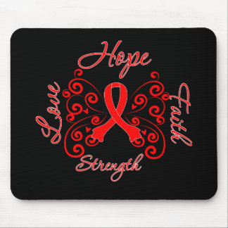 Hope Faith Love Strength AIDS Disease Mouse Pad