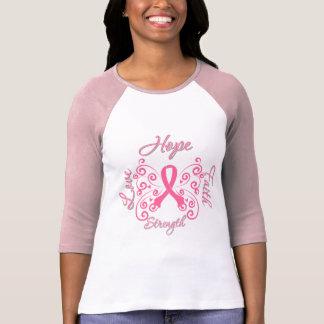 Hope Faith Love Strength Breast Cancer Shirts