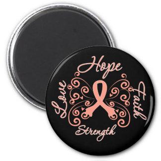 Hope Faith Love Strength Endometrial Cancer Magnet