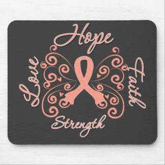 Hope Faith Love Strength Endometrial Cancer Mouse Pad
