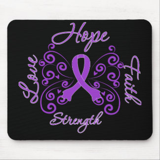 Hope Faith Love Strength Leiomyosarcoma Mouse Pad