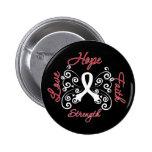 Hope Faith Love Strength Lung Cancer 6 Cm Round Badge