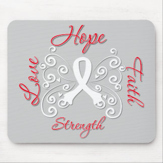 Hope Faith Love Strength Lung Cancer Mouse Pad
