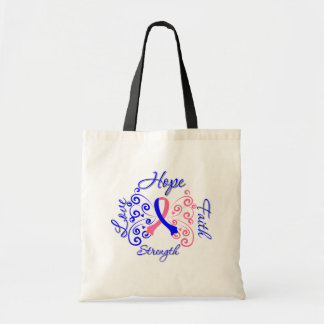 Hope Faith Love Strength Male Breast Cancer Tote Bag