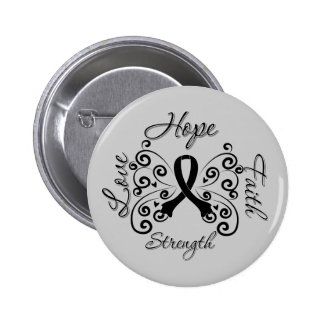 Hope Faith Love Strength Melanoma 6 Cm Round Badge