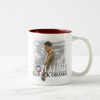 Hope & Faith Obama Mug