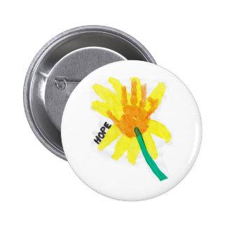 Hope Flower 6 Cm Round Badge